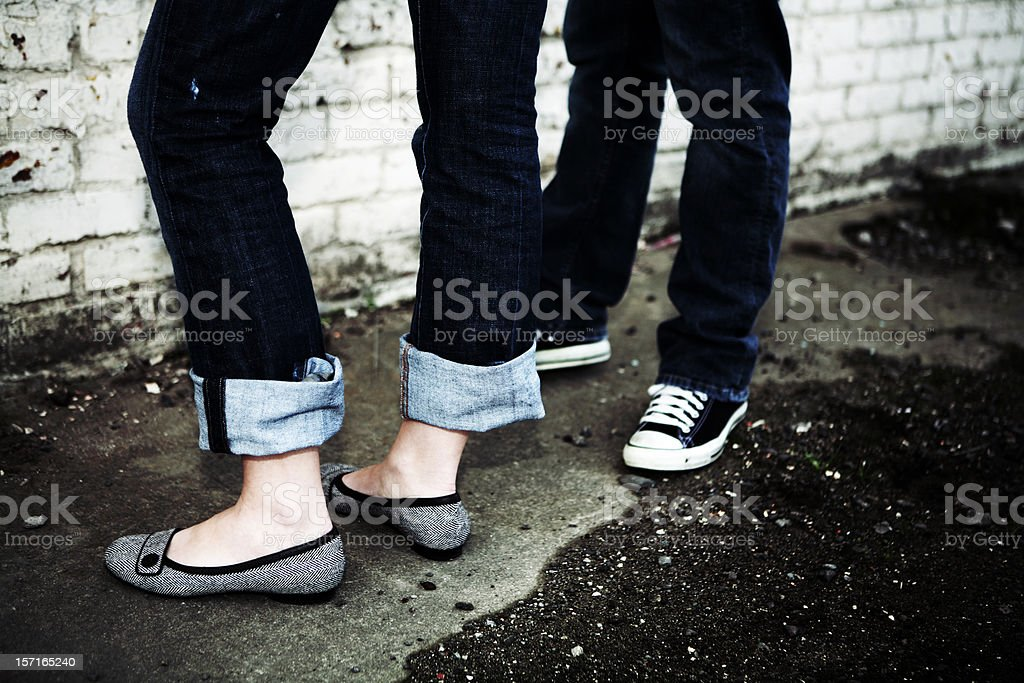 Two Sets of Shoes royalty-free stock photo