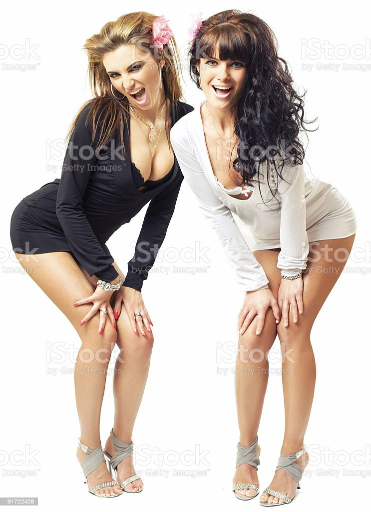 two sexy girls royalty-free stock photo