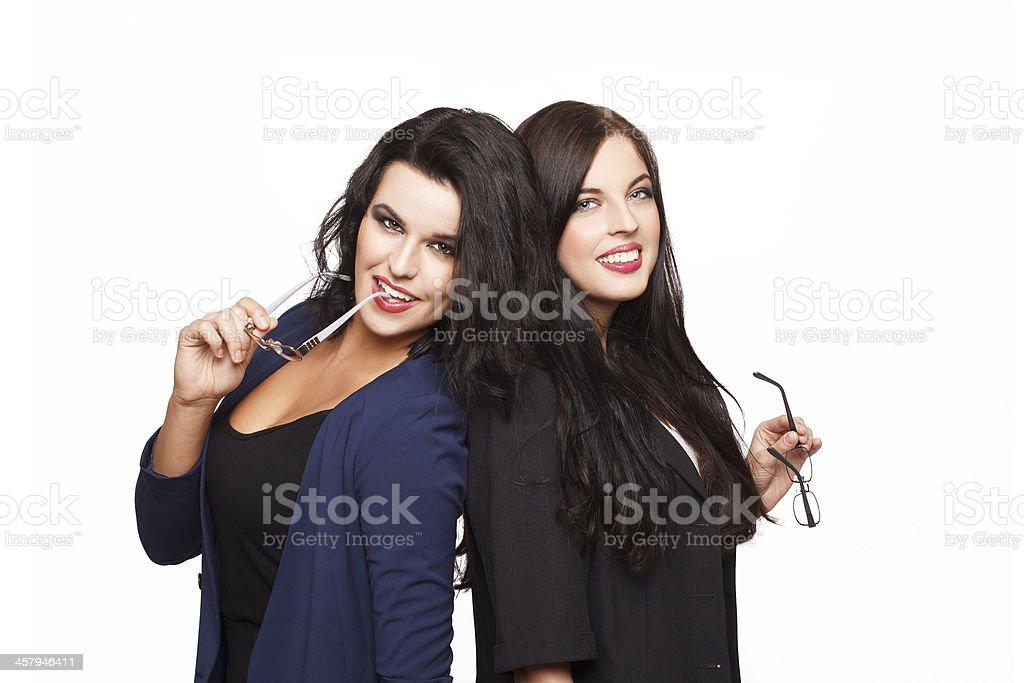 Two sexy women royalty-free stock photo