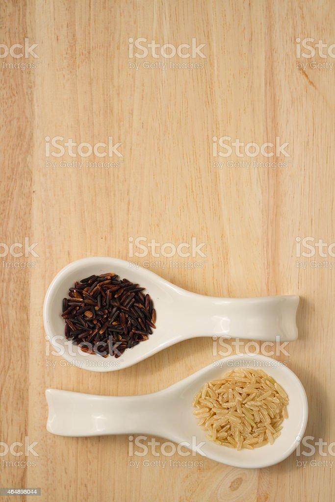 two shades of jasmine rice royalty-free stock photo