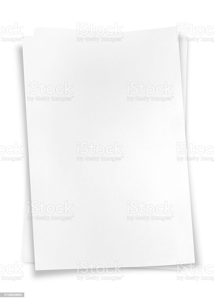 Two sheets of memo papers stock photo