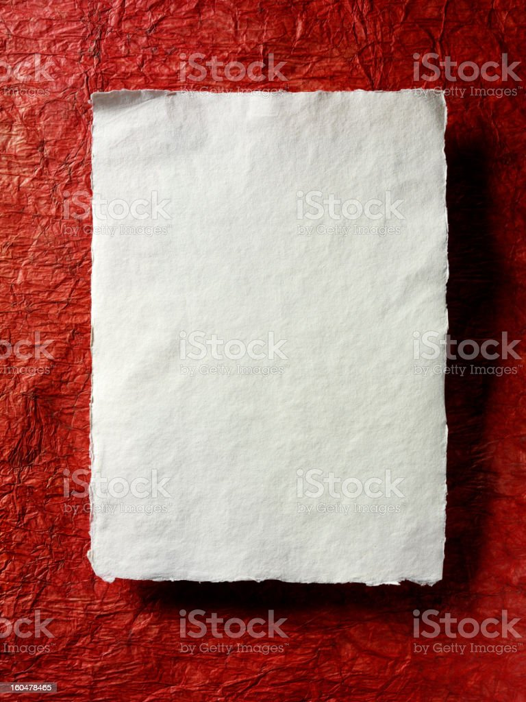Two Sheets of Paper royalty-free stock photo