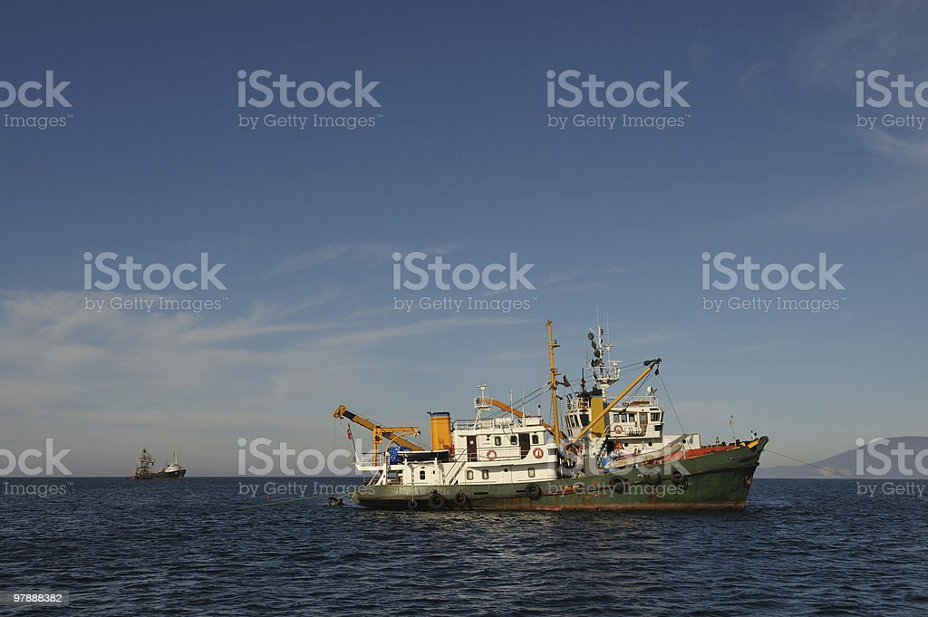 Two Ship stock photo