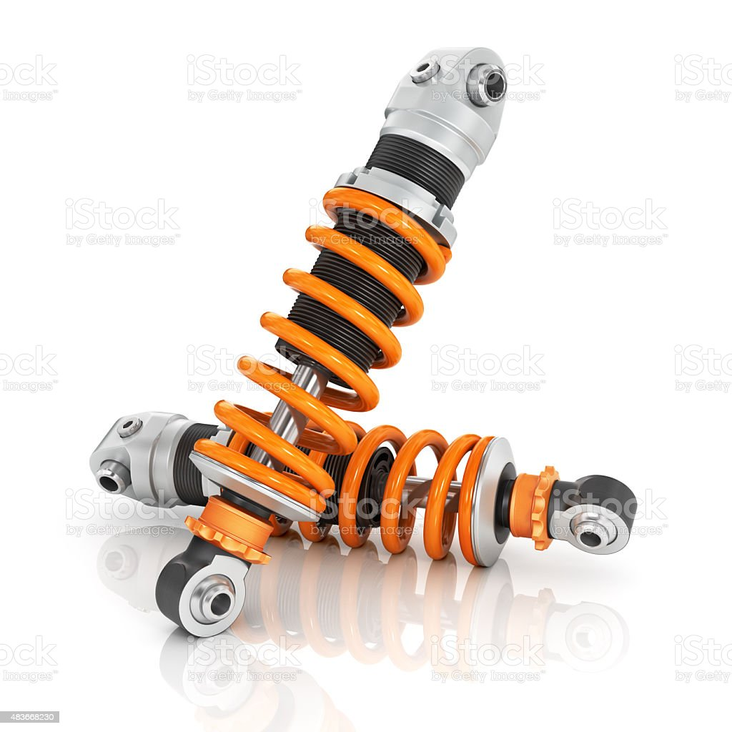 Two shock absorber car. stock photo