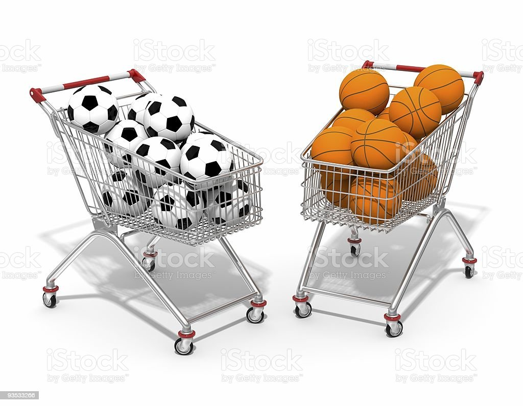 Two shopping cart royalty-free stock photo