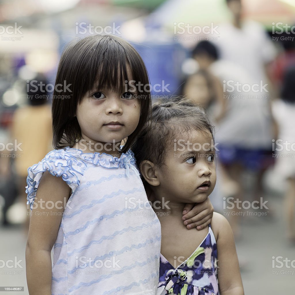 Two siblings royalty-free stock photo