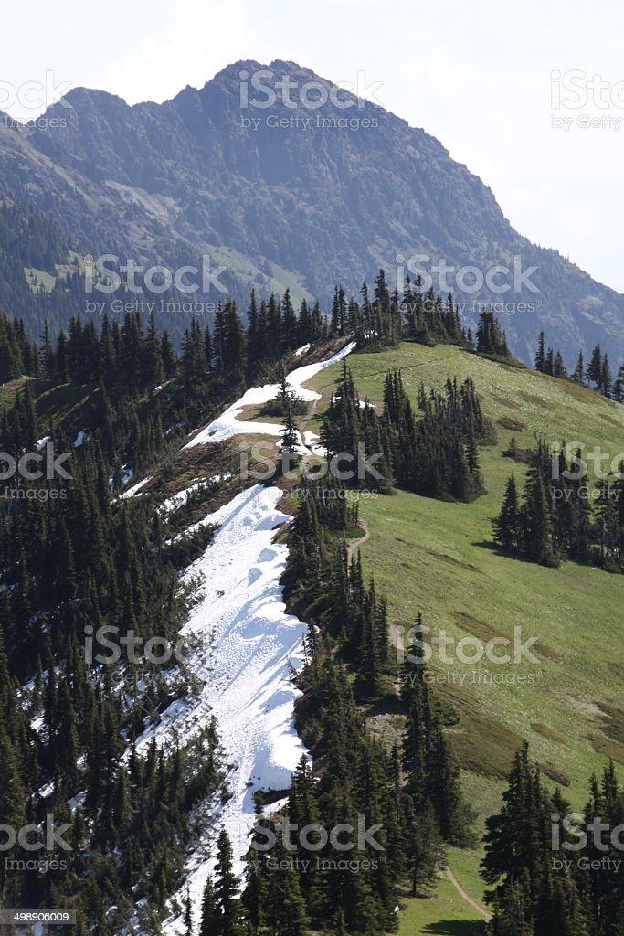 Two Side Of A Mountain Ridge stock photo