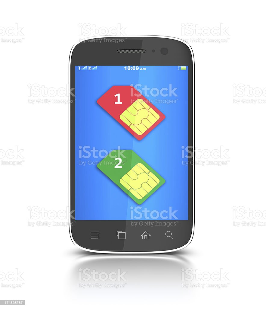 Two SIM-cards. royalty-free stock photo