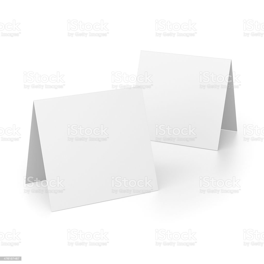 two simple folded paper composition stock photo