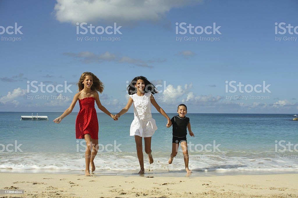 two sisters and brother royalty-free stock photo