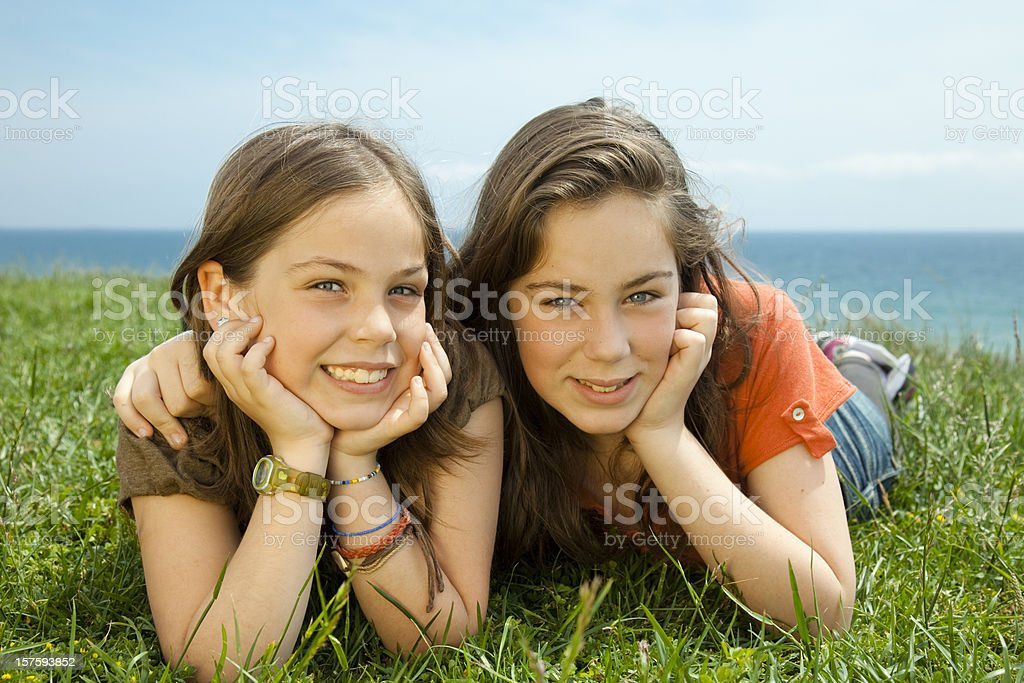 Two sisters royalty-free stock photo