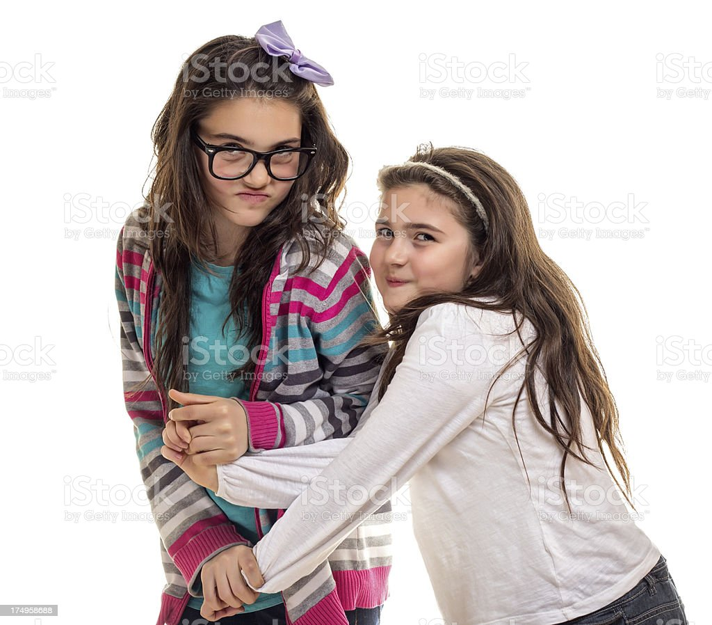 Two sisters playing royalty-free stock photo