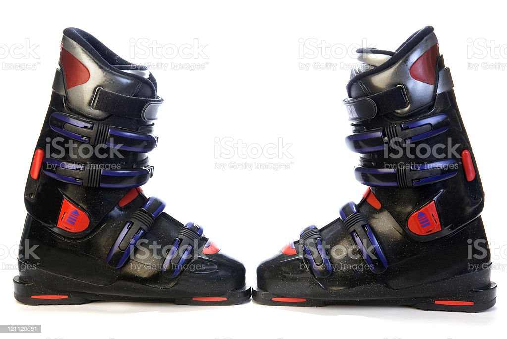 Two Ski Boots stock photo