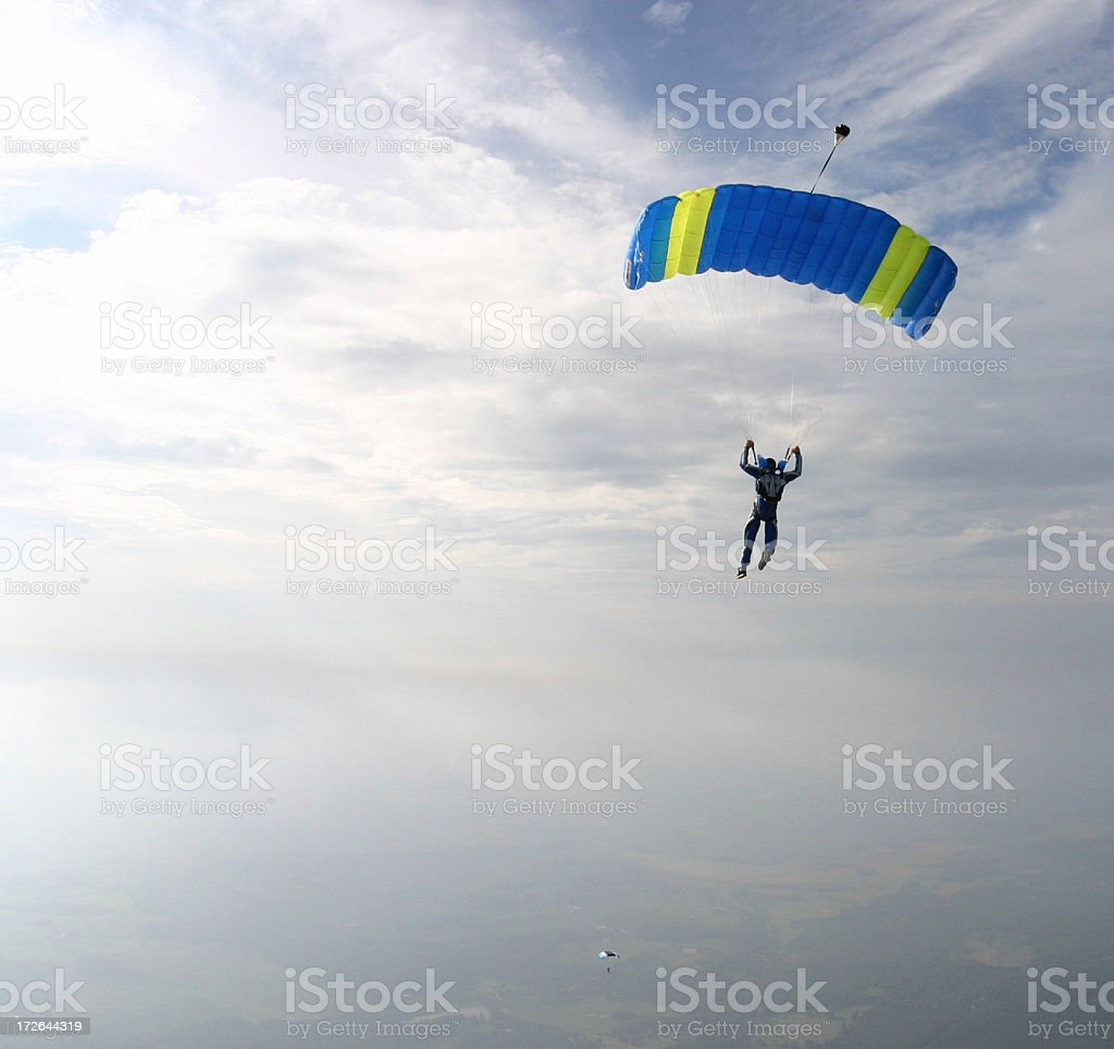 Two Skydivers royalty-free stock photo