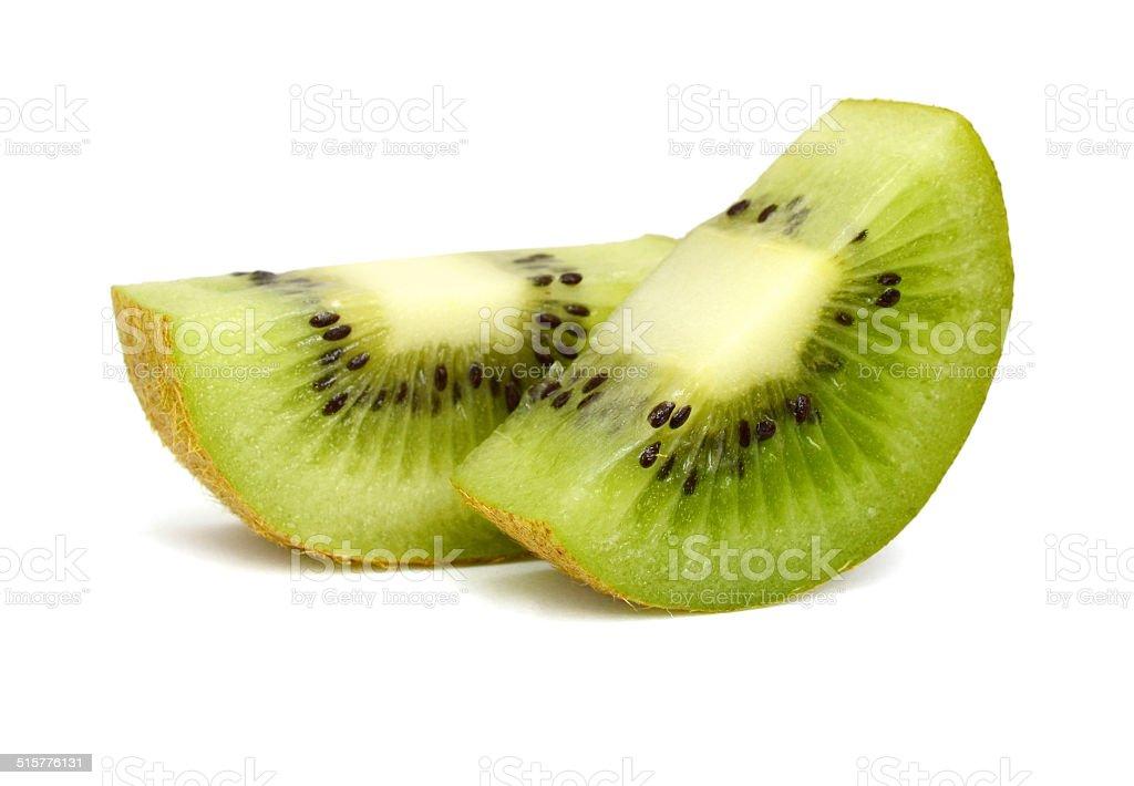 Two sliced kiwi fruit stock photo