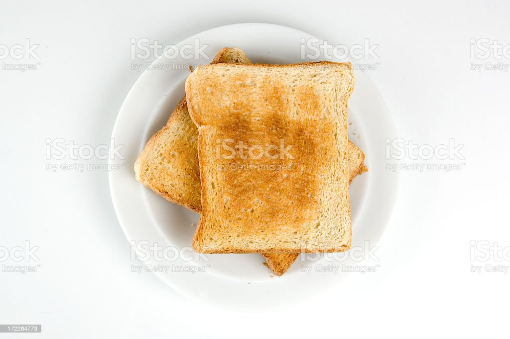 Two slices of toast stock photo