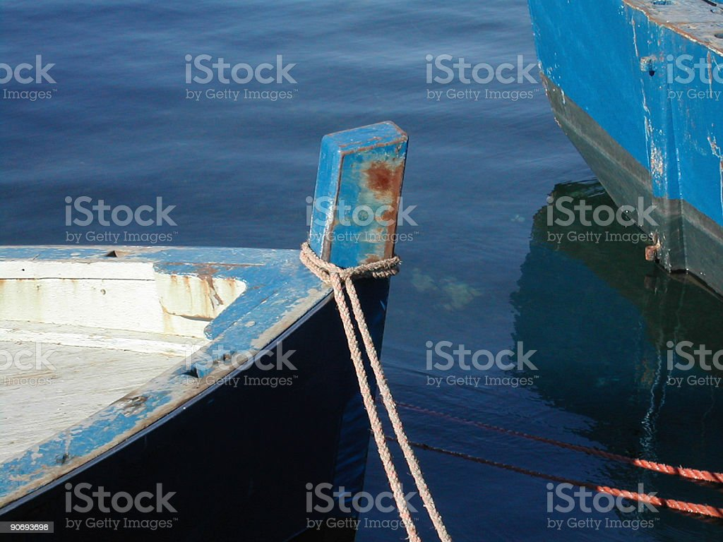 two small fishing boats stock photo