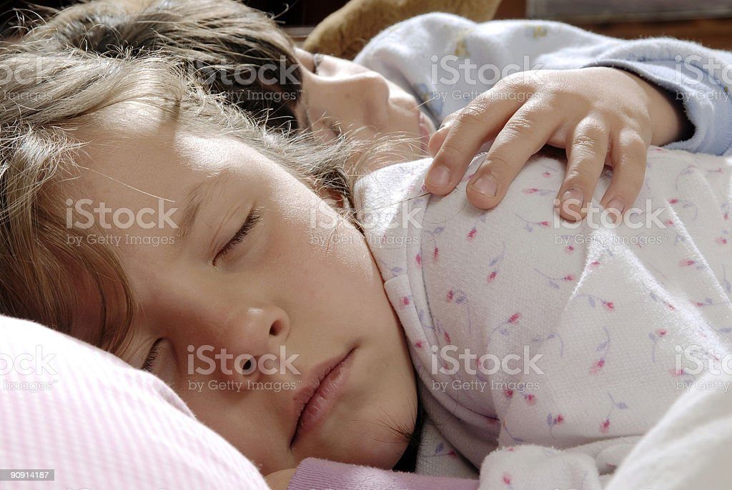 two small girls royalty-free stock photo