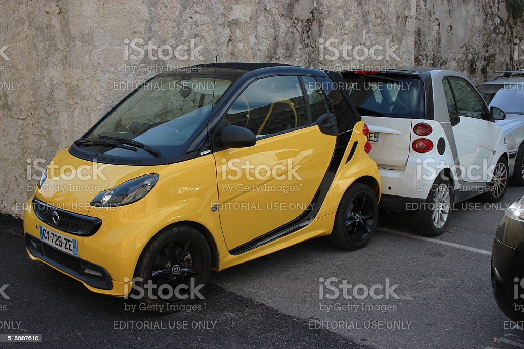 Two Smart Fortwo stock photo