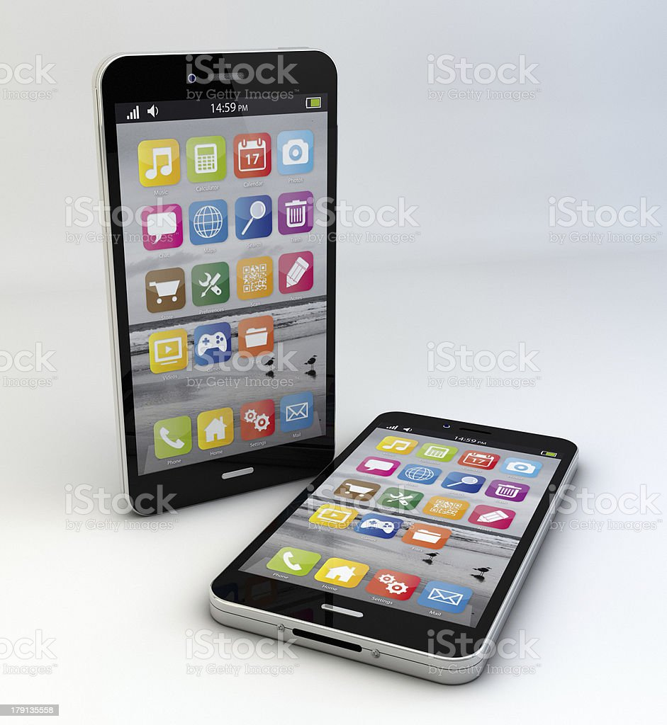 two smartphones royalty-free stock photo