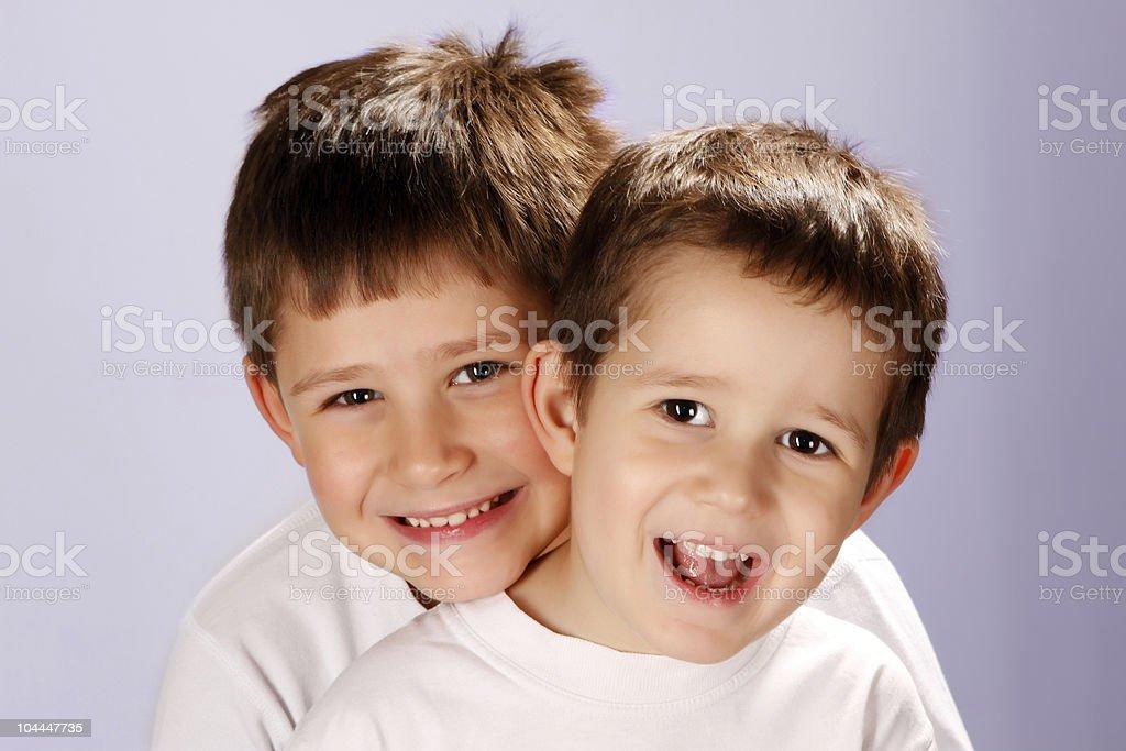 two smiling boys royalty-free stock photo