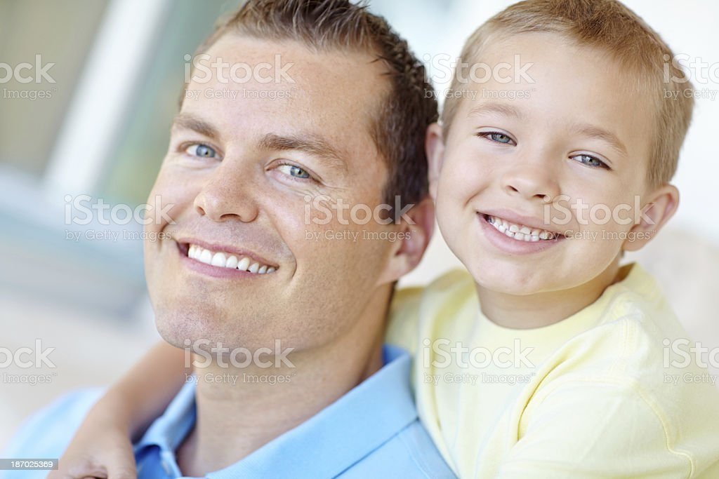 Two smiling guys royalty-free stock photo