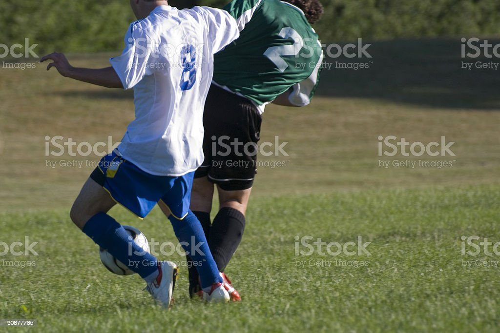 Two Soccer Players stock photo
