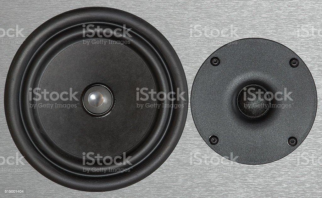 Two speakers of the loudspeaker stock photo