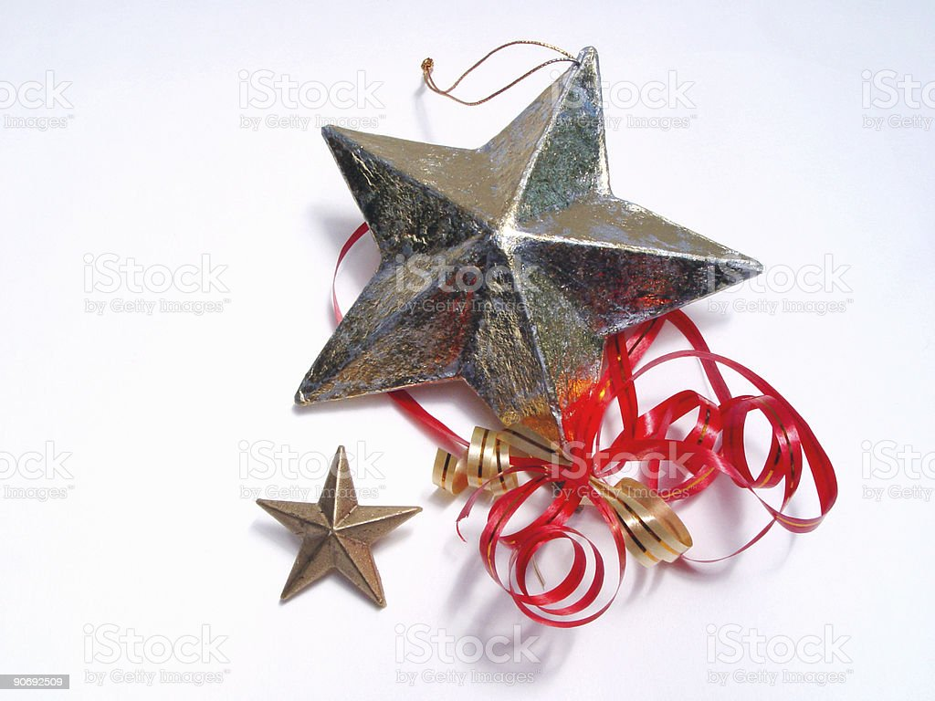Two stars with ribbons royalty-free stock photo