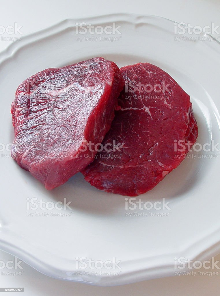 Two Steaks stock photo