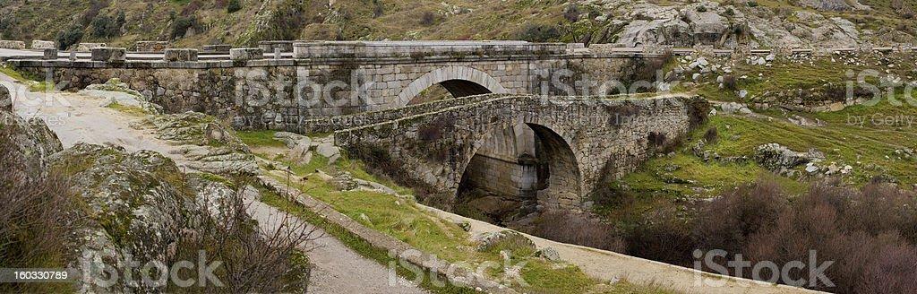 Two Stone Bridges stock photo