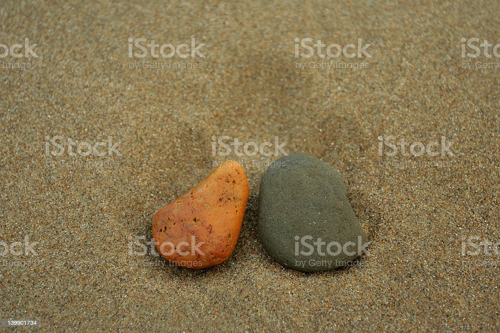 two stones royalty-free stock photo