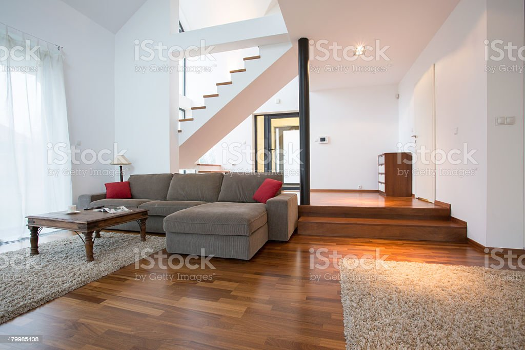 Two storey house stock photo