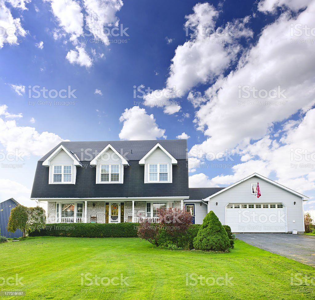 Two storey residential home stock photo