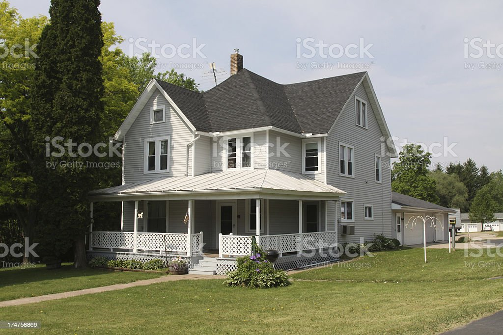 Two Story Farmhouse stock photo