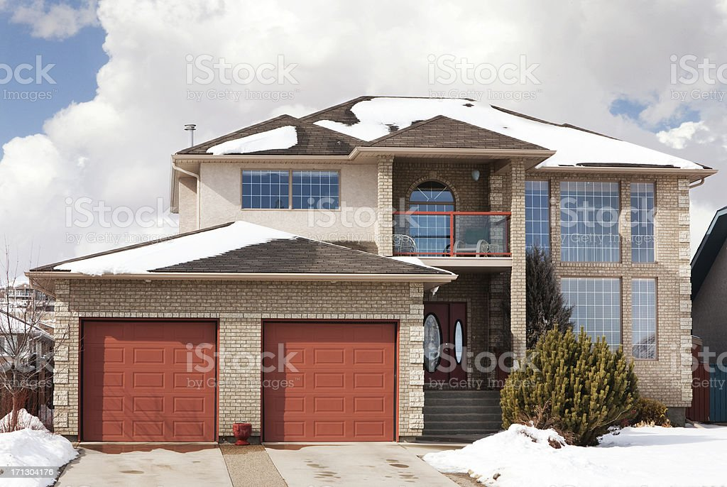 Two Story Single Family Home royalty-free stock photo