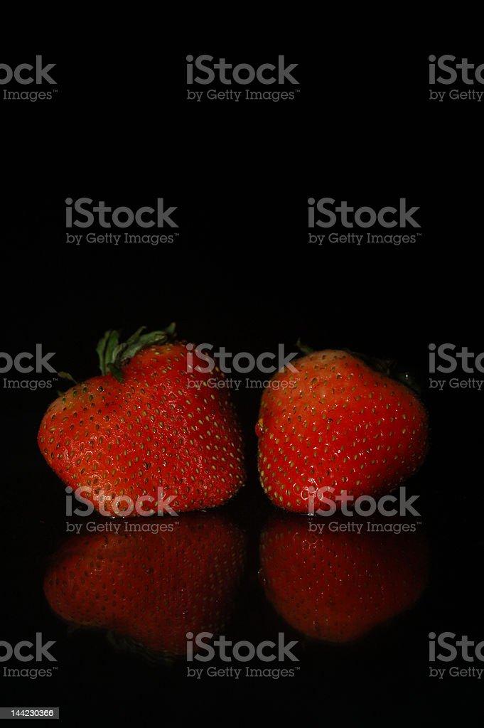 Dos fresas foto de stock libre de derechos
