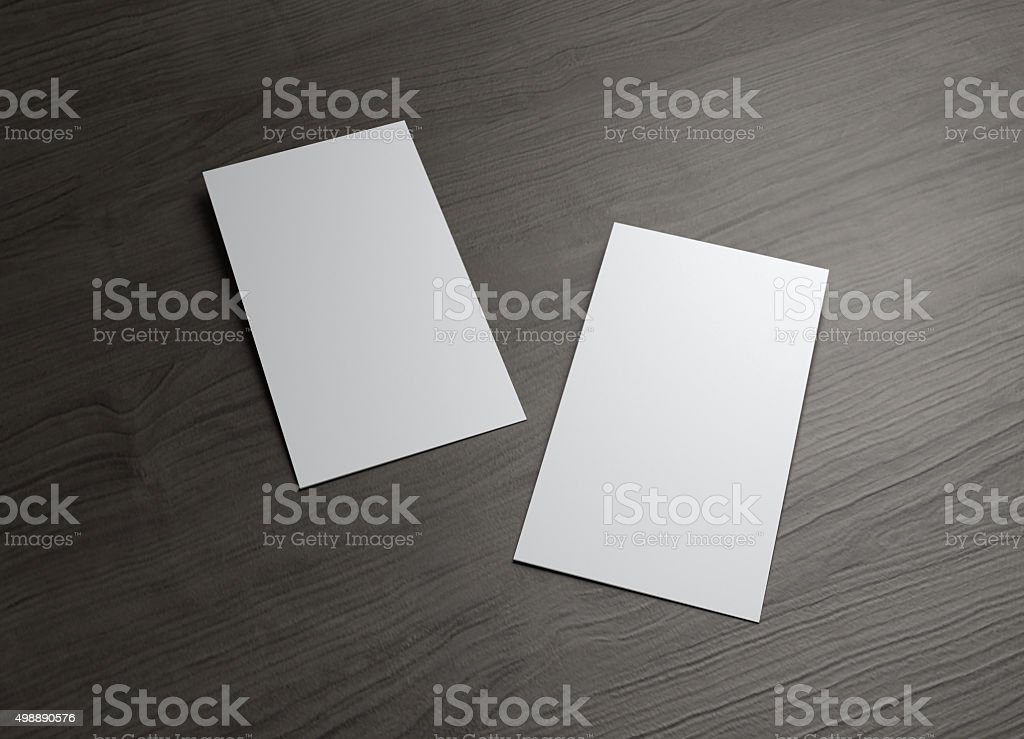 Two Styles Business Cards On Wood Table stock photo 498890576 | iStock