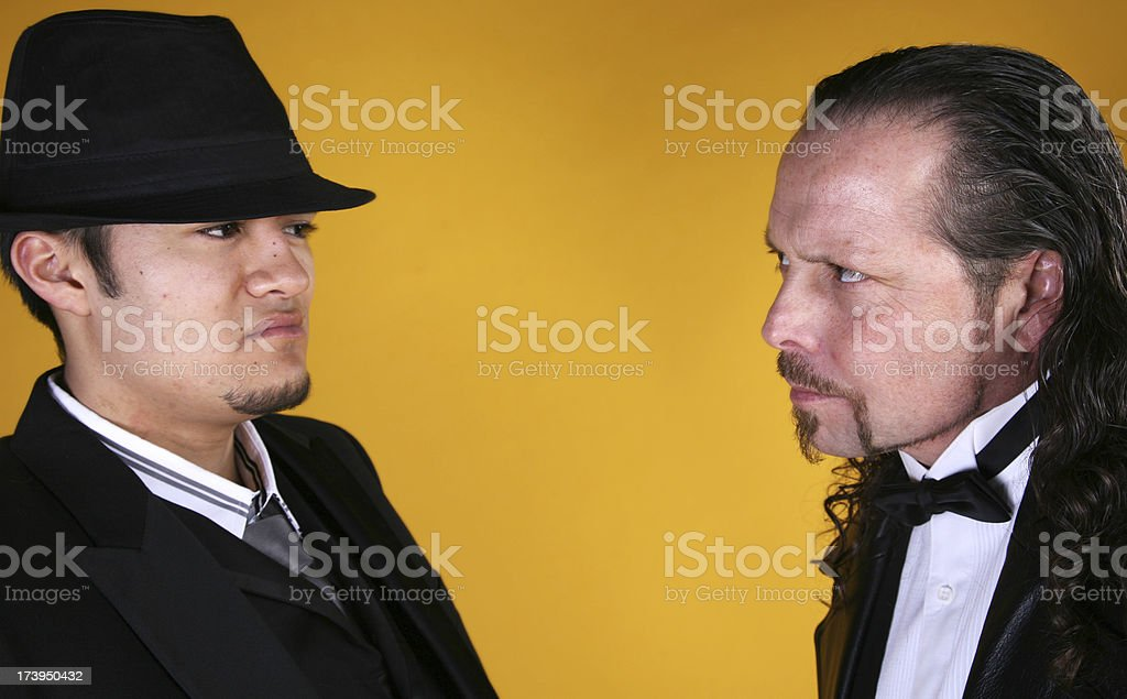 Two Styling Men Unhappy With One Another royalty-free stock photo