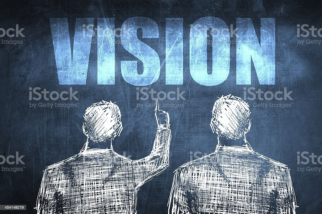 Two successful businessman showing vision, business concept royalty-free stock photo