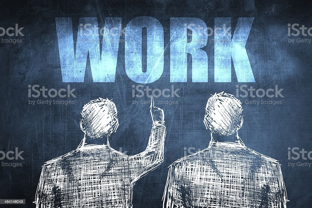 Two successful businessman showing work, business concept royalty-free stock photo
