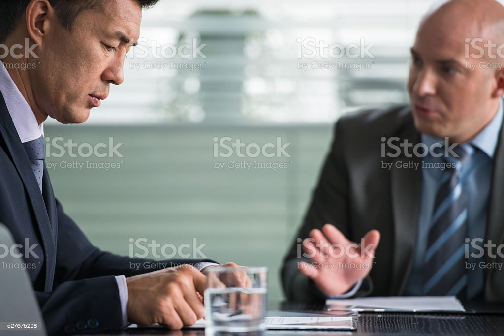 Two Successfully Businessman At The Meeting stock photo
