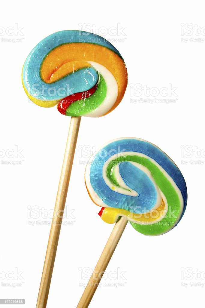 Two sugar candies royalty-free stock photo