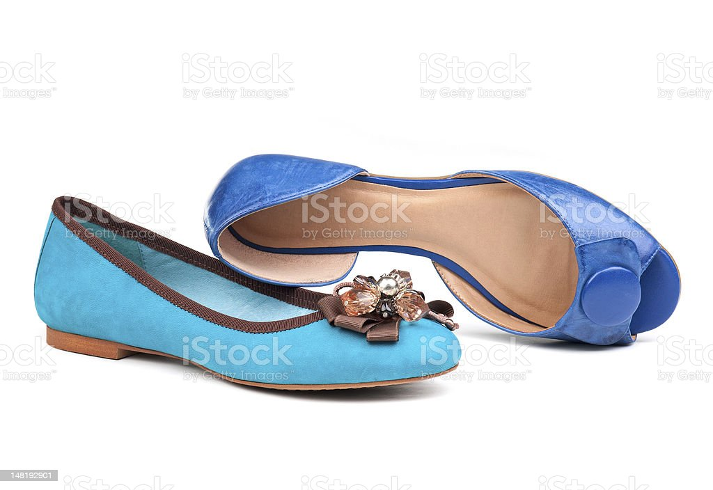 Two summer women shoes over white royalty-free stock photo