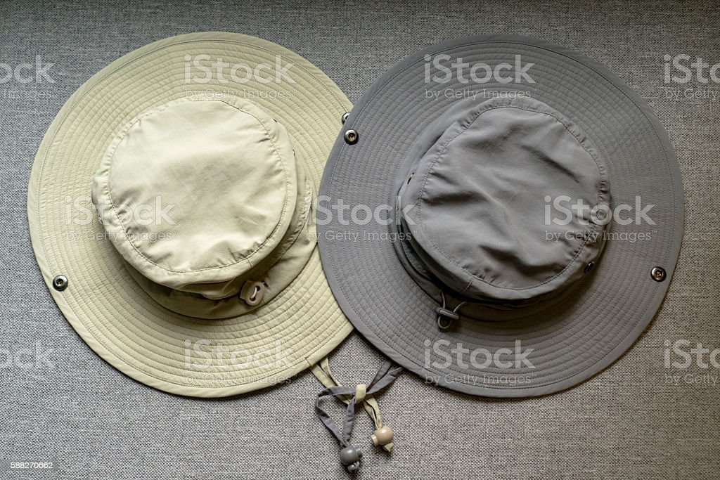 two sunbonnets on sofa stock photo