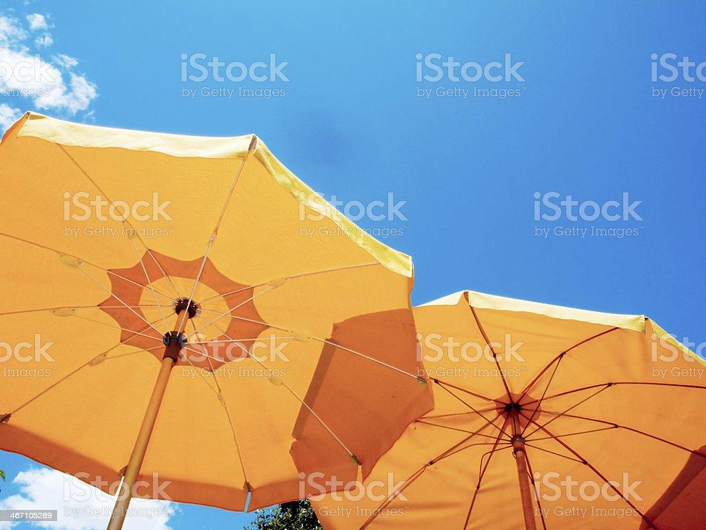 two sunshades stock photo