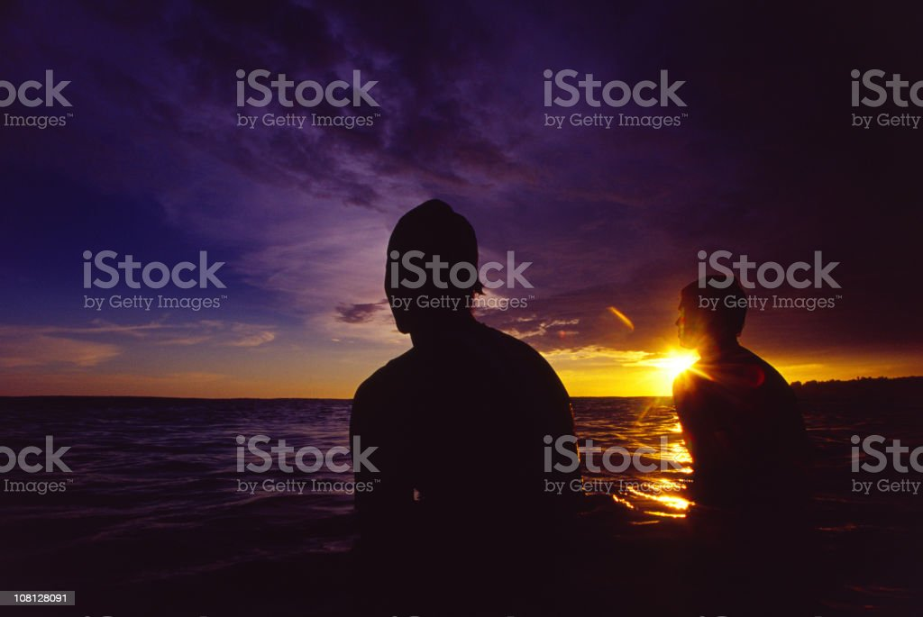 two surfers royalty-free stock photo