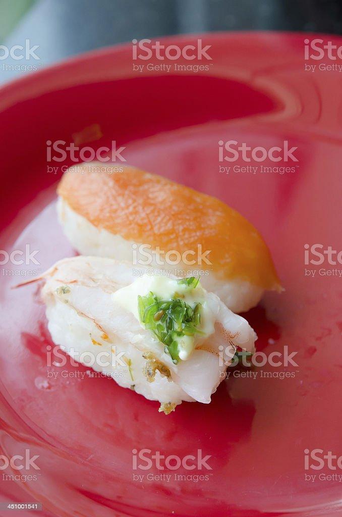 two sushi royalty-free stock photo