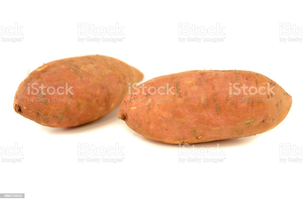 two sweet potatoes stock photo