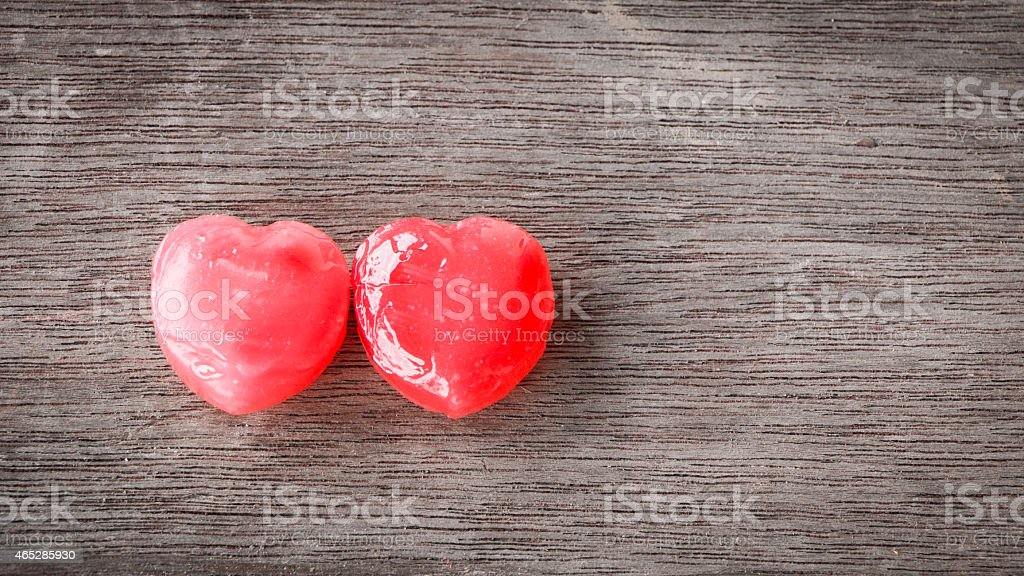 two sweets put on wooden background stock photo